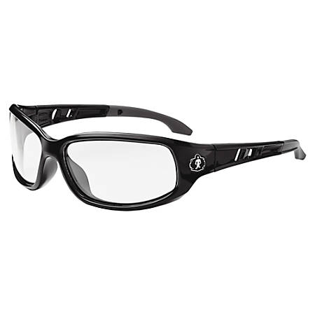 Skullerz Valkyrie Fog-Off Safety Glasses, Medium, Black Frame Clear Lens