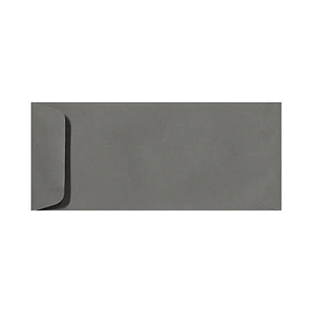 """LUX Open-End Envelopes With Peel & Press Closure, #10, 4 1/8"""" x 9 1/2"""", Smoke Gray, Pack Of 50"""
