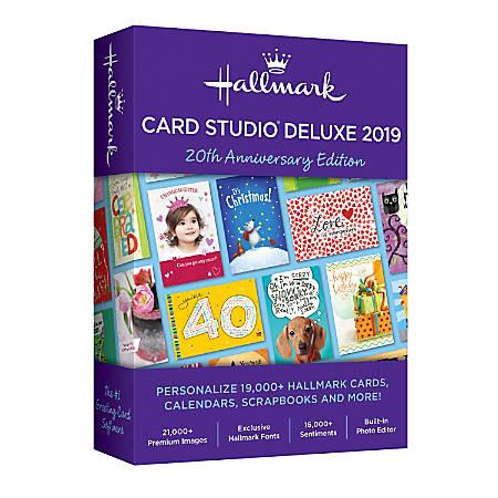 Hallmark card studio deluxe 2019 traditional disc by office depot hallmark card studio deluxe 2019 traditional m4hsunfo