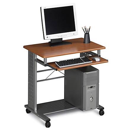 Mayline® Group Mobile PC Station, Medium Cherry/Metallic Gray