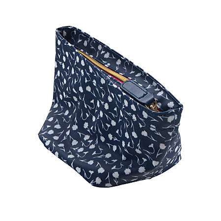 "See Jane Work® Going Places Flat-Bottom Pouch, 8""H x 4 3/4""W x 5""D, Navy Floral"
