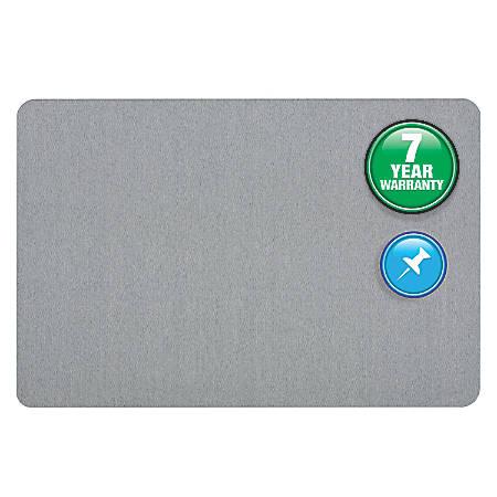 Quartet® Bulletin Board, Fabric, 4' x 3', Light Blue, Frameless