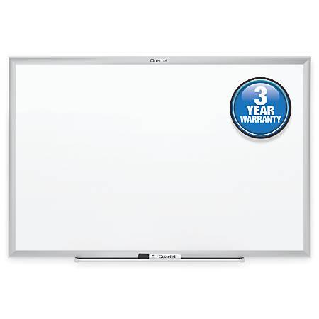 "Quartet® Classic Total Erase® Dry-Erase Board, 18"" x 24"", Silver Aluminum Frame"