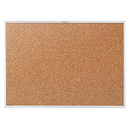"""Quartet® Classic Cork Bulletin Board, 48"""" x 72"""", Silver Aluminum Frame"""