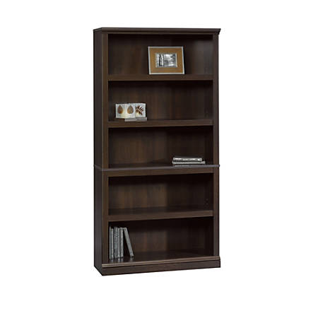 Sauder® Select Bookcase, 5 Shelf, Cinnamon Cherry