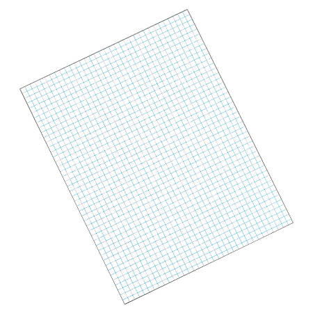 """TOPS™ Quadrille Pad, 8 1/2"""" x 11"""", Quad Ruled, White, 50 Sheets Per Pad, Pack Of 12 Pads"""