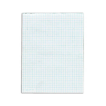 "TOPS White Quadrille Pads, 8 1/2"" x 11"", 50 Sheets, Pack Of 12 Pads"