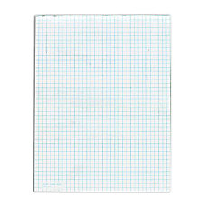 TOPS White Quadrille Pads 50 Sheets