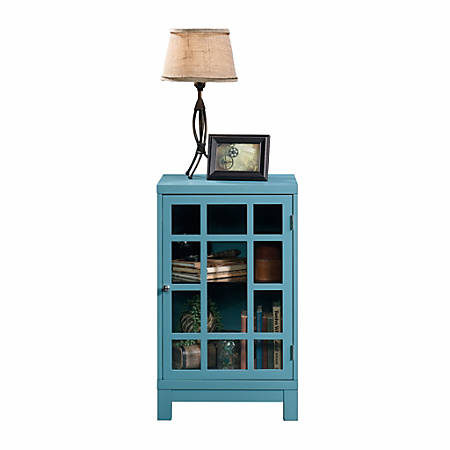 Sauder® Carson Forge Display Cabinet, Moody Blue