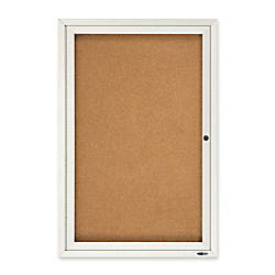 Quartet Anodized Aluminum Frame Enclosed Bulletin