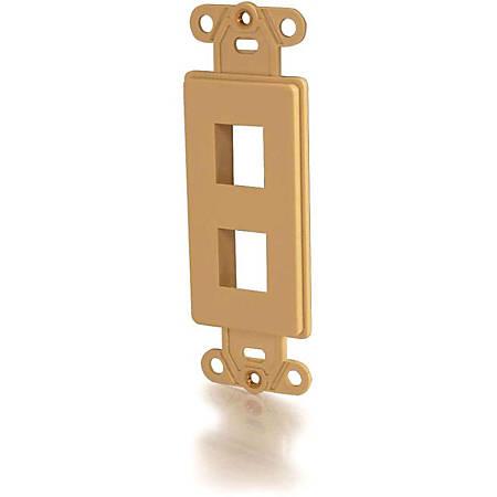 C2G Two Port Keystone Decorative Style Wall Plate - Ivory - 2 x Socket(s) - Ivory