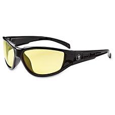 Ergodyne Njord Yellow Lens Safety Glasses