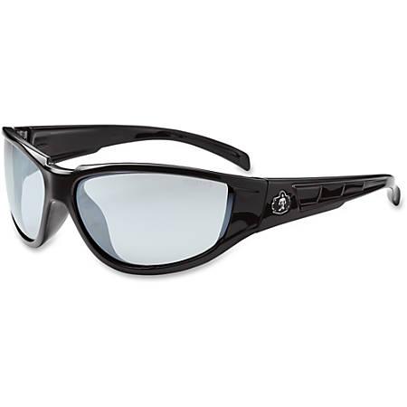 Ergodyne Njord In/Outdoor Lens Safety Glasses - Durable, Flexible, Scratch Resistant - Ultraviolet Protection - Polycarbonate Lens, Nylon Frame, Polycarbonate Temple - Black - 1 Each