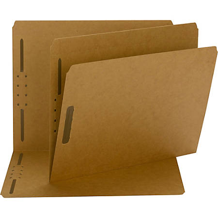 Smead® Fastener Folders, 2 Fasteners, Letter Size, Straight-Cut Tab, Kraft, Box Of 50