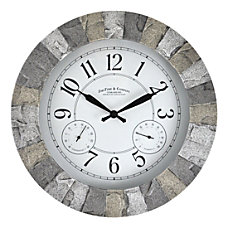 FirsTime Co Stoneybrook Outdoor Wall Clock