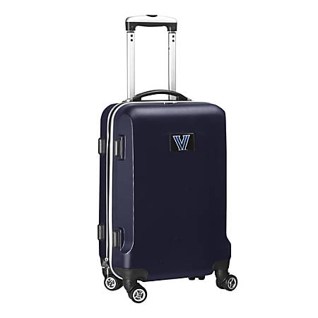 """Denco Sports Luggage NCAA ABS Plastic Rolling Domestic Carry-On Spinner, 20"""" x 13 1/2"""" x 9"""", Villanova Wildcats, Navy"""