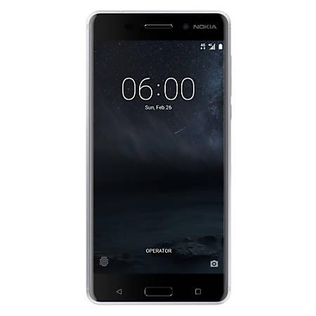 Nokia 6 TA-1025 Cell Phone, Silver, PNN100293