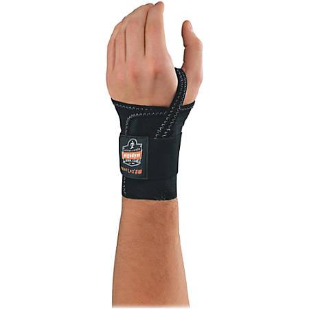 Ergodyne ProFlex® Support, 4000, Single-Strap Wrist, Left, Small, Black