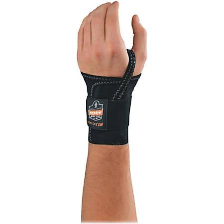 Ergodyne ProFlex® Support, 4000, Single-Strap Wrist, Left, Medium, Black