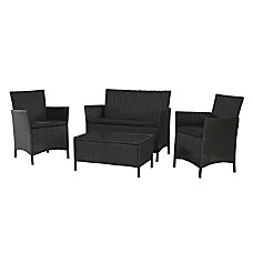 Cosco Jamaica 4 Piece Wicker Conversation
