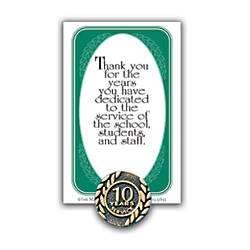 10 Years Of Service Lapel Pin