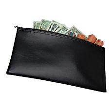 Zipper Top Wallet Black