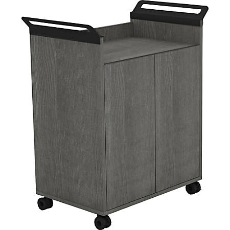 Lorell® Mobile Storage Cabinet with 2 Doors, Weathered Charcoal