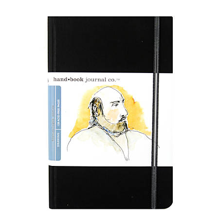"""Hand Book Journal Co. Travelogue Drawing Journals, Portrait, 5 1/2"""" x 8 1/4"""", 128 Pages, Ivory Black, Pack Of 2"""