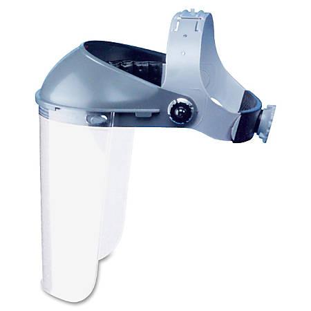 North Fibre Metal Headgear For Bullard Safety FaceShield, Gray