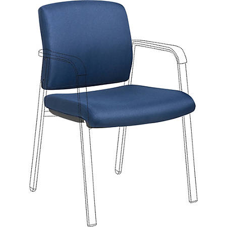 Lorell Stackable Chair Upholstered Back/Seat Kit - Navy - 1 Each