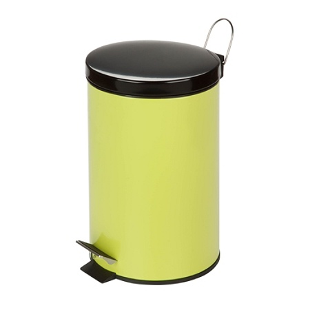 Honey-Can-Do Steel Step Trash Can, 3.2 Gallons, Lime Green Item # 921014