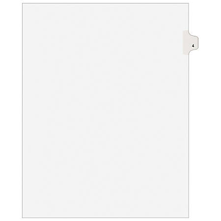 Avery® 20% Recycled Side-Tab Legal Index Exhibit Dividers, Tab Title 4, Pack Of 25