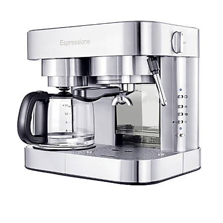 Espressione 10-Cup Combination Pump Espresso Machine, Stainless Steel