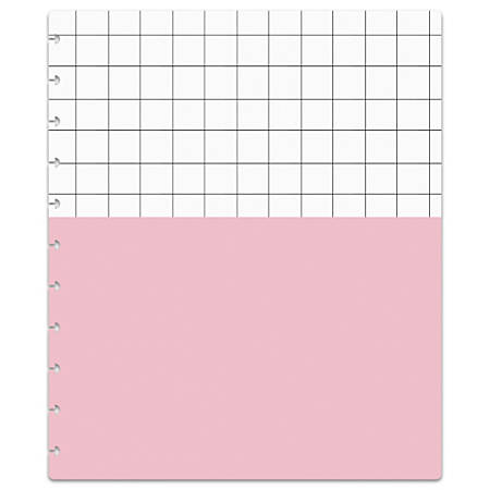 "TUL™ Custom Note-Taking System Discbound Notebook Covers, 8-1/2"" x 11"", White Grid/Light Pink, Pack Of 2 Covers"