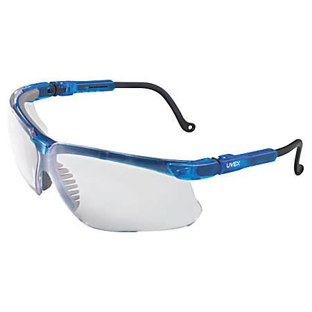 Genesis Eyewear, Clear Lens, Polycarbonate, Ultra-dura, Blue Vapor Frame