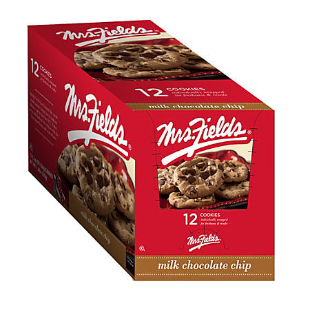 Mrs. Fields® Gourmet Chocolate Chip Cookies, 2.1 Oz, Box Of 12