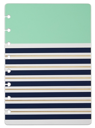 TUL® Discbound Notebook Covers, Junior Size, Mint Stripes, Pack of 2 Covers