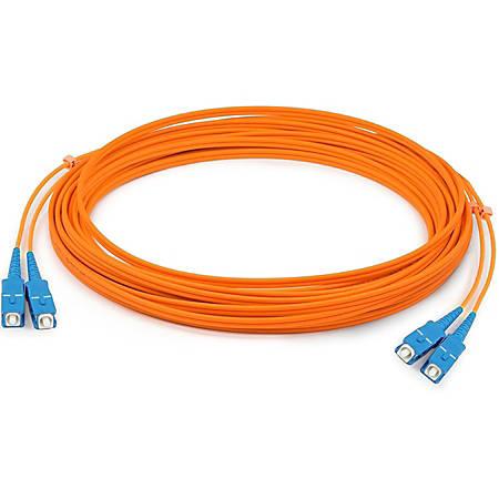 AddOn 6m SC (Male) to SC (Male) Orange OM1 Duplex Fiber OFNR (Riser-Rated) Patch Cable