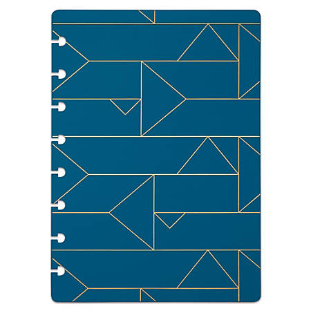 """TUL® Custom Note-Taking System Discbound Notebook Covers, 5-1/2"""" x 8-1/2"""", Blue Geo, Pack of 2 Covers"""