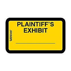Tabbies Plaintiffs Exhibit Legal File Labels