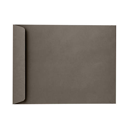 "LUX Open-End Envelopes With Peel & Press Closure, #9 1/2, 9"" x 12"", Smoke Gray, Pack Of 250"
