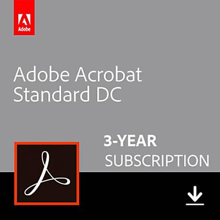 Adobe Acrobat Standard DC- 3 Year (Windows), Download Version
