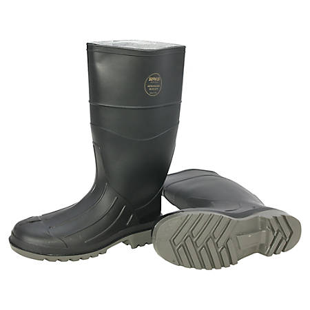 Servus Men's Iron Duke PVC Steel-Toe Safety Boots, Size 9, Black