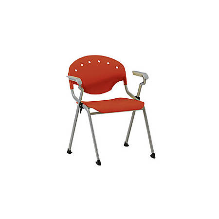 OFM Rico Stacking Chair, With Arms, Red, Set Of 6