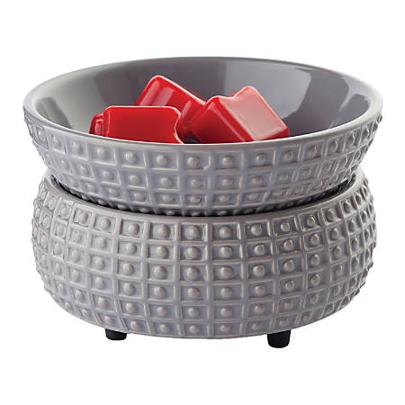 Candle Warmers Etc 2-In-1 Classic Fragrance Warmer, Slate