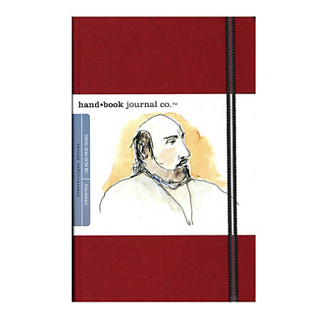 "Hand Book Journal Co. Travelogue Drawing Journals, Portrait, 5 1/2"" x 8 1/4"", 128 Pages, Vermilion Red, Pack Of 2"