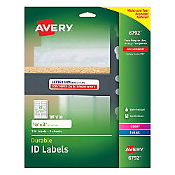 Avery Durable Permanent ID Labels AVE6792