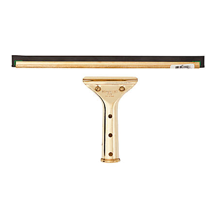 "Unger 12"" GoldenClip Brass Squeegee - Screw Lock Handle - Brass"