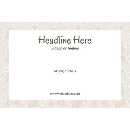Adhesive Sign, Abstract DeSign Frame, Horizontal
