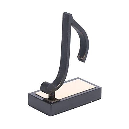 """Zuo Modern Quaver Figurine, 8 1/2""""H x 5 15/16""""W x 3 1/8""""D, Black"""